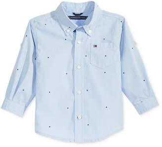Tommy Hilfiger Micro-Print Cotton Shirt, Baby Boys