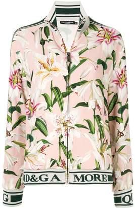 Dolce & Gabbana lily print track jacket