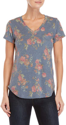Femme By Tresics Floral V-Neck Pocket Tee