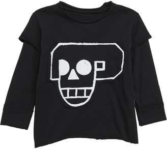 Nununu Skull Robot Patch Layer T-Shirt