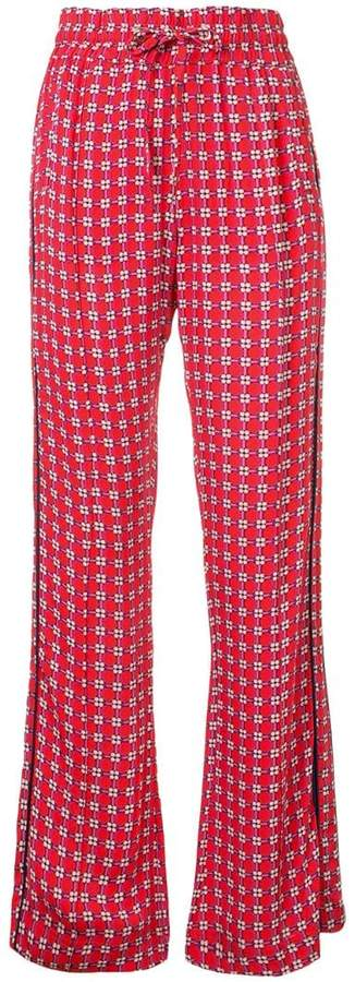 pearly pills print trousers