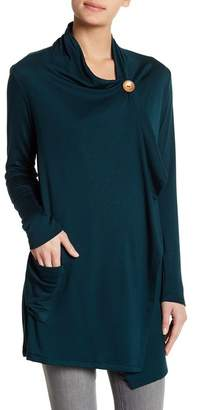 Bobeau New One Button French Terry Cardigan