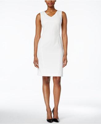 Kasper V-Neck Sheath Dress $89 thestylecure.com