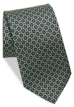 Eton Green Printed Medallion Tie