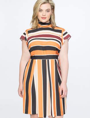 Opposing Stripes Tie Back Dress