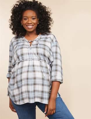 Motherhood Maternity Plus Size Convertible Sleeve Maternity Top