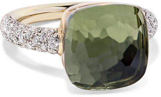 Pomellato Nudo 18-karat Rose And White Gold, Prasiolite And Diamond Ring