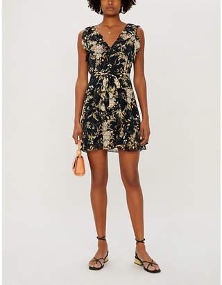 Paige Tia Floral-Print Silk Mini Dress
