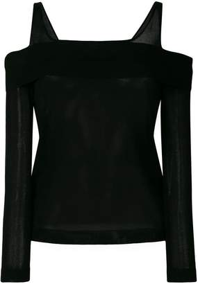 Alberta Ferretti cold shoulder knitted top