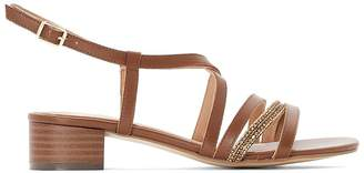5d61c9042c661 at La Redoute · Anne Weyburn Beaded Strap Leather Sandals