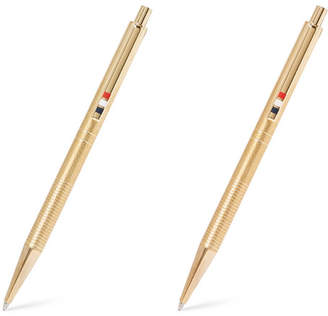 Thom Browne Gold-tone Pen And Pencil Set