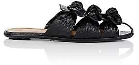 The Row Women's Capri Snakeskin Mules-Black