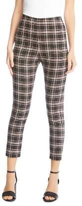 Karen Kane Piper Plaid Skinny Cropped Pants