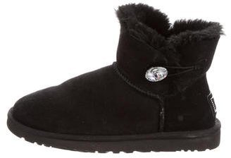 UGG Australia Bailey Button Ankle Boots $130 thestylecure.com