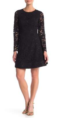Laundry by Shelli Segal Long Sleeve Lace Fit & Flare Dress