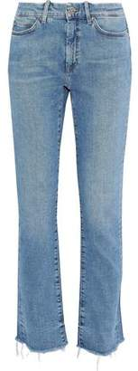 MiH Jeans Daily Distressed High-Rise Straight-Leg Jeans