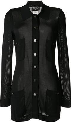 Chanel Pre-Owned semi-sheer cardigan