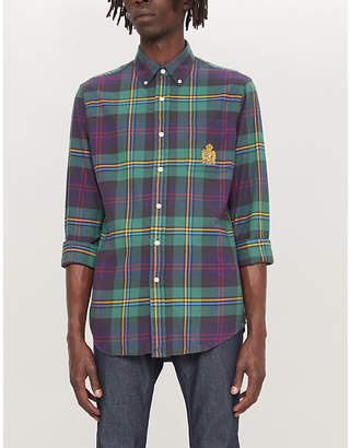 Polo Ralph Lauren Checked custom-fit cotton-flannel shirt