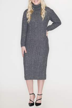 Cozy Casual Turtleneck Sweater Dress