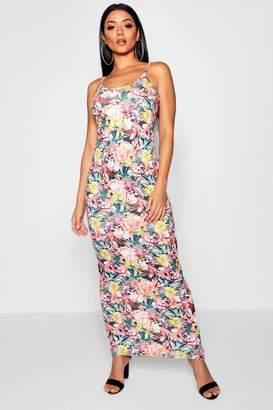 boohoo Tropical Print Maxi Dress