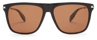 Alexander McQueen Skull Detail D Frame Sunglasses - Mens - Black