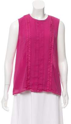 Karl Lagerfeld Lace Accent Sleeveless Top