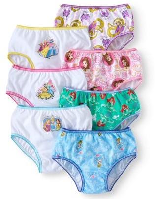 Princess Girls Disney Princess, Girls Underwear, 7 Pack Panties (Little Girls & Big Girls)
