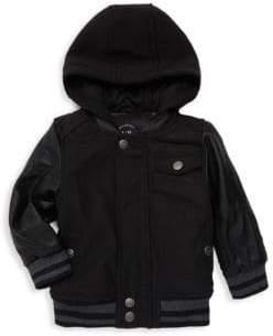 c7b55ebb7d44 Kids Leather Sleeve Jacket - ShopStyle