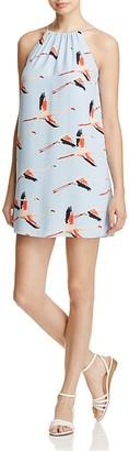 Cooper & Ella Elisa Crane Print Tassel Dress $188 thestylecure.com