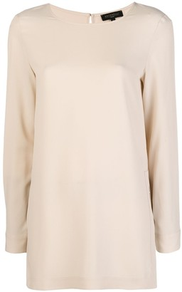 Antonelli piped sleeve blouse