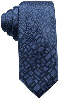 Alfani Men's Abstract Panel Silk Slim Tie, Created for Macy's