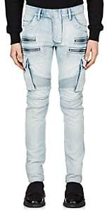 Balmain Men's Cargo Skinny Biker Jeans - Blue