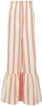 Vilshenko Cecile Striped Wide Leg Pants