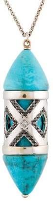 Pamela Love 18K Turquoise & Diamond Pendant Necklace