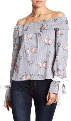 Fate Off-the-Shoulder Long Sleeve Floral Top