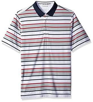 Cutter & Buck Men's Moisture Wicking Drytec Cody Horizontal Stripe Polo Shirt