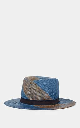 dd1698149fbb78 Albertus Swanepoel Men's Wooster Wave-Pattern Straw Hat - Navy
