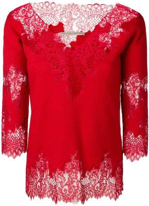 Ermanno Scervino lace embellished blouse