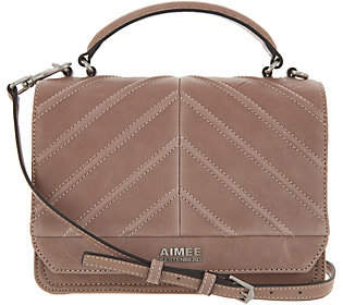 Aimee Kestenberg Leather Expandable Crossbody- Mia