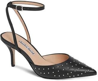 Charles David Women's Azalea Studded Ankle Strap Pumps