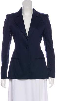 Altuzarra Lace-Accented Single-Breasted Blazer