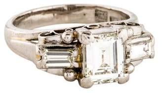 Ring Platinum Three Stone Diamond