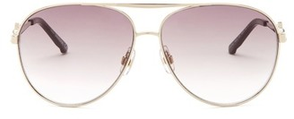 Swarovski Women&s Crystal Faceted Metal Sunglasses $190 thestylecure.com