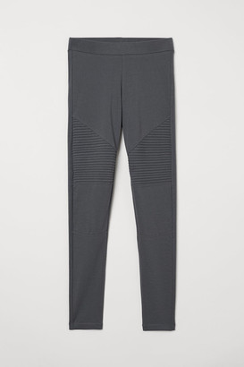 H&M Jersey Biker Leggings - Gray