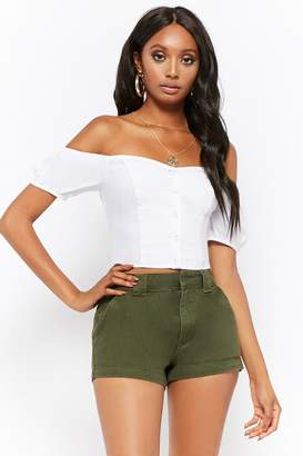 Forever 21 High-Rise Denim Shorts