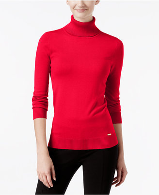 Calvin Klein Ribbed Turtleneck Sweater $69.50 thestylecure.com