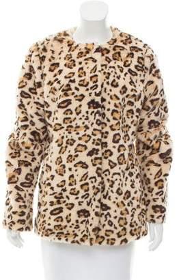 Twelfth Street By Cynthia Vincent Leopard Faux Fur Jacket