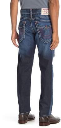 True Religion Slim Flap Pocket Ripped Jeans