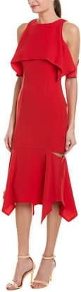 Yigal Azrouel Cape Sleeve Sheath Dress