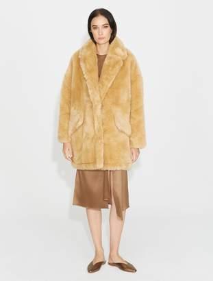Halston Ultrafur Long Coat
